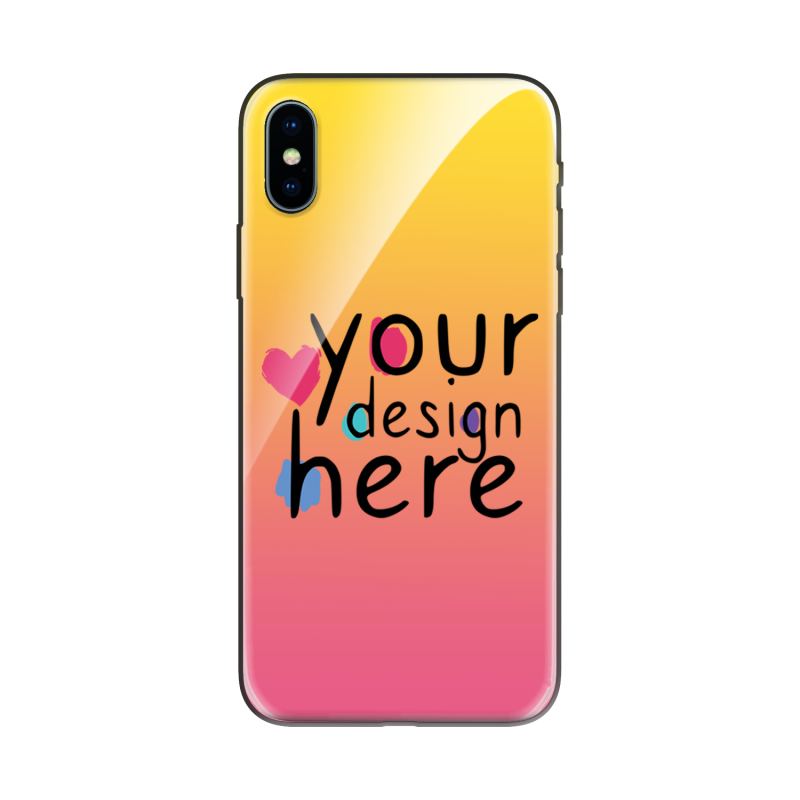Customized Glass phone case for iPhone X
